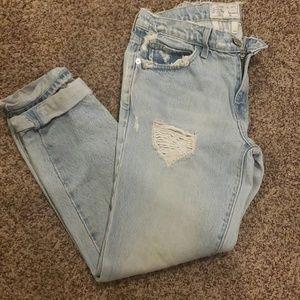 Distressed current/elliot jeans